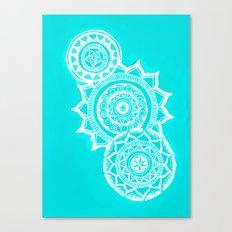 The blue mandalas Canvas Print