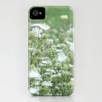 iPhone 4s & iPhone 4 Cases featuring Field of Lace - Queen Ann's Lace  by Jean Ladzinski