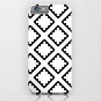 iPhone & iPod Case featuring Geometric Squares Diamond Pattern by Rachel Follett