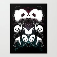 PANDA COLLIDE Canvas Print