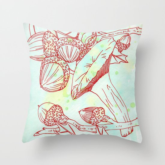 Forest Finds Throw Pillow