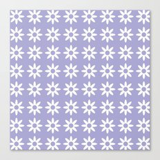 Daisy Flower Pattern Canvas Print