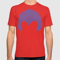 Mega Man Typography Mens Fitted Tee Red SMALL