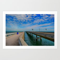 Overseas Highway Florida Keys Art Print