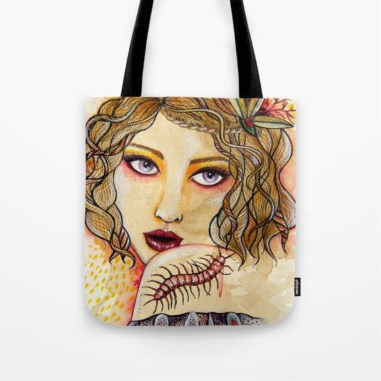 Cecilia and the Centipede Tote Bag