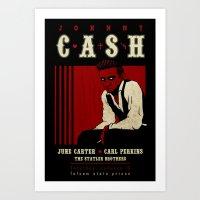 Cash Live At Folsom Pris… Art Print