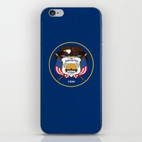 Utah State Flag - Authen… iPhone & iPod Skin