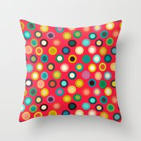 Red Pop Spot Throw Pillow
