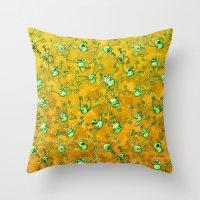 Frog Festival Throw Pillow