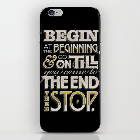 Begin at the Beginning iPhone & iPod Skin