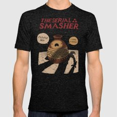 the serial smasher Mens Fitted Tee Tri-Black SMALL