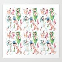Pixie Pattern Art Print