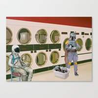 In The Laundromat With B… Canvas Print