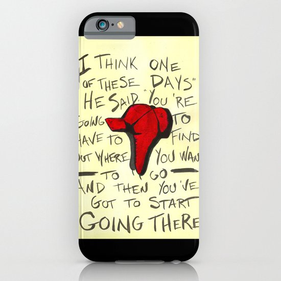 The Catcher In The Rye - Holden's Red Hunting Cap iPhone & iPod Case