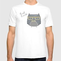Clever Owl Mens Fitted Tee White SMALL
