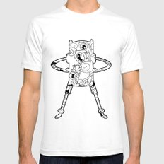 Finn  SMALL Mens Fitted Tee White