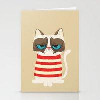 Grumpy Meme Cat  Stationery Cards