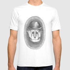 cyber chaplin White SMALL Mens Fitted Tee