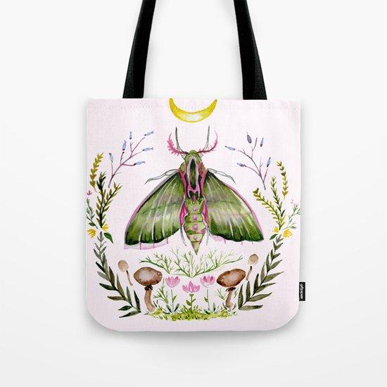 Pink Moth Tote Bag