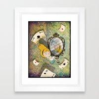 falling down Framed Art Print