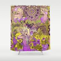 Garden Pansy Shower Curtain