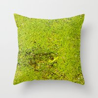 The Frog Throw Pillow