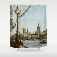 London view Shower Curtain