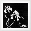 Iris on Black Art Print