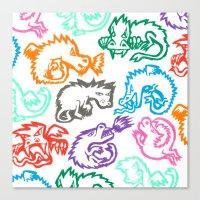 Crayon Love: Dragons Canvas Print