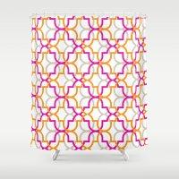 Moroccan Trellis Overlap… Shower Curtain