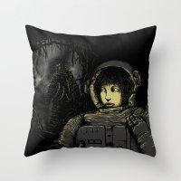 Space Horror Throw Pillow