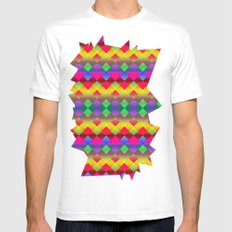 Party White Mens Fitted Tee SMALL