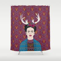 DEER FRIDA Shower Curtain