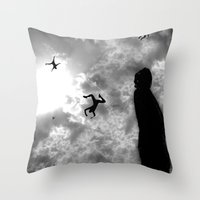 Downfall Throw Pillow
