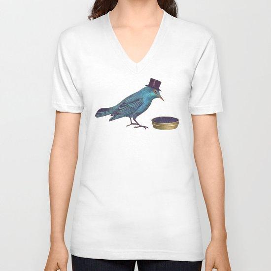 Gentlebirds Prefer Caviar  V-neck T-shirt