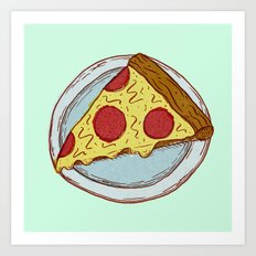 Pizza Experiment Art Print