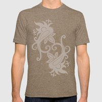 Paisley: Dark Brown Combo Mens Fitted Tee Tri-Coffee SMALL
