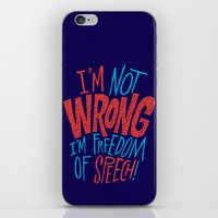 Freedom of Speech iPhone & iPod Skin