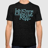 The Hustle is Real Mens Fitted Tee Tri-Black SMALL