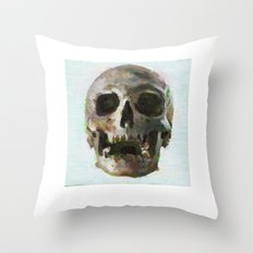 skull7 Throw Pillow