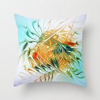 Gently Moving Waves Throw Pillow