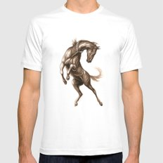 Ink Horse White SMALL Mens Fitted Tee