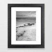 waterfalls on the rocks. M Framed Art Print