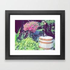 Barrel & Flowers Framed Art Print