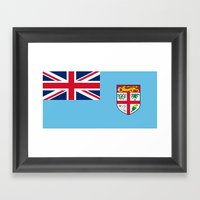 Flag Of Fiji Framed Art Print
