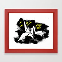Fly or die Framed Art Print