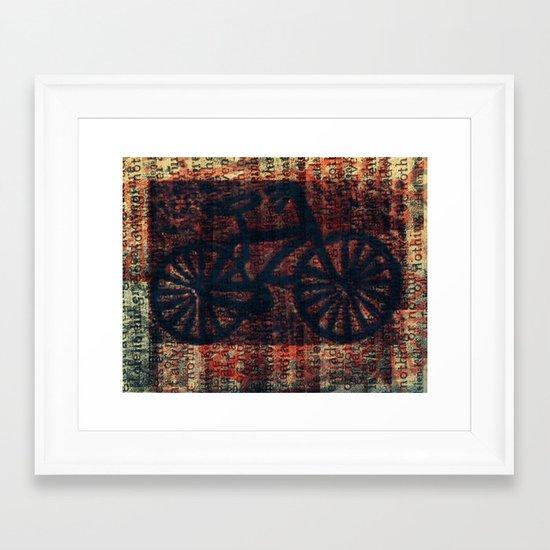 """""""Bike"""" Framed Art Print"""
