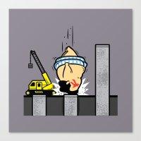 Part Time Job - Piling Construction Canvas Print