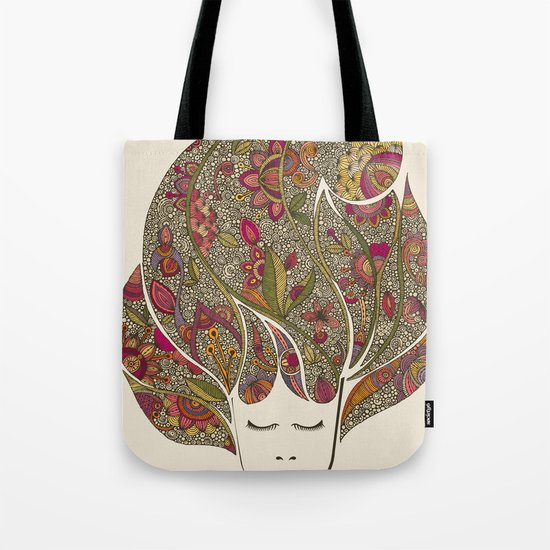 Dreaming with flowers Tote Bag
