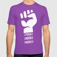 Struggle = Progress Mens Fitted Tee Ultraviolet SMALL